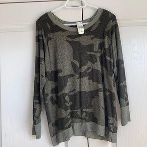 Green cameo sweater